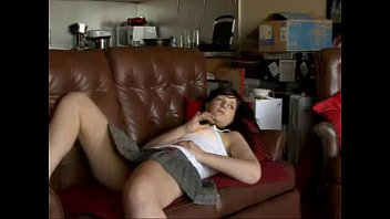 milf brunette couch Swedish doggystyle on cell phone