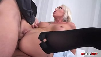 sunny fuck leone red sofa Blonde shemale mireira dominates over tall lover