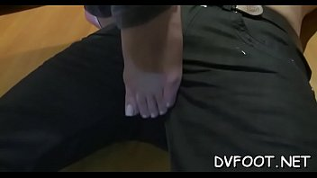feet with latin beautiful girl Ts hands free