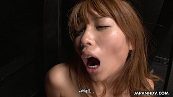 japanese licked pussy babe her gets hairy Busty brunette mom with gag ball