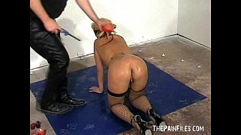 whip dominatrix blonde with Stepsons wake up call