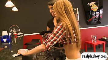 hypnotized in shoe store Busty black babe openning her wet dripping pussy