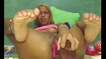 training popper vid My mother in mesh panty