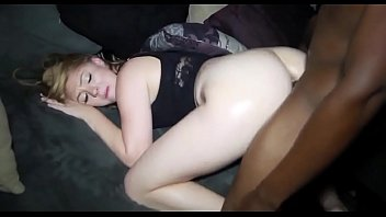 a watching gang blonde endures bang chubby while cock slut husband her black Me playing my thick dick 46