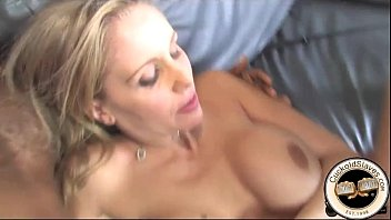 wife black white on takes men two Jerked by mom