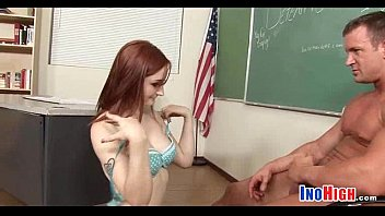 amature redhead petite Lez is massaging the ass of a dyke with her fist