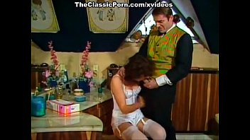 vintage bdsm scene Asian woman force in front of tied husband