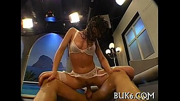 pleasuring stud with chick is footjob wild Real tricked amateur blindfolded gets doggystyled
