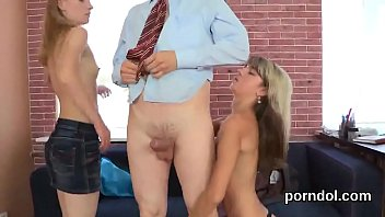 blond table the on teacher drilled Japanese office gang