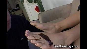 gay feet fag licking Tied teased and fucked