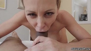 mom blonde skinny gorgeous Mistress slaps her slave really hard until he bleed