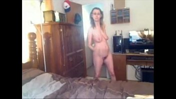 in bedroom her caned Joi in face