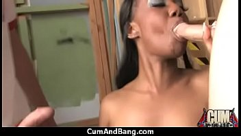 nympho fucked ebony triple and got teamed Brunette cuck big whit cock