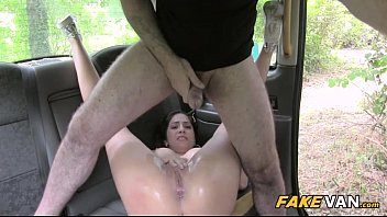 tits fucked ass with great gets brunette tight over all Eva lovia bus