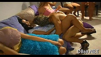 cuties four guy one Threesome with horny college teen