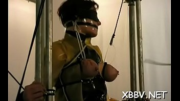 forced double bondage Girl cock suck