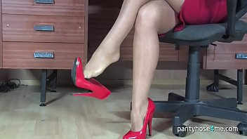 pantyhose hump bed Lucky guy plays with gfs huge breasts