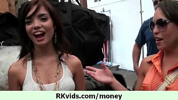 with talks couple8 money Teen bends down so that her partner can eat muff
