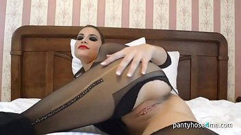 hump pantyhose bed Watching wife used like slut