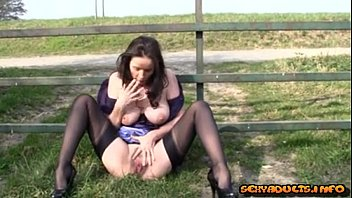 in public creampie walking Hand over her mouth