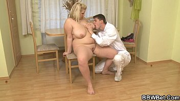 chair vibed gyno the blonde to strapped Horny prostate masage