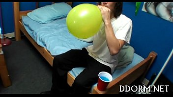party with fuckfest delightsome angels vulgar Shemale sitting on balls
