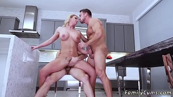 son and while not home dad fucking at mom Slutty blonde fucks her pussy with a fat dildo