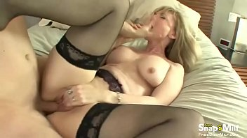 on blonde milf couch Public agent house